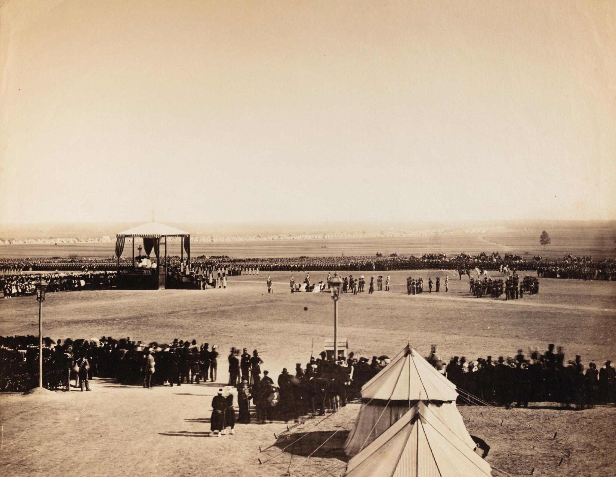 View full screen - View 1 of Lot 2. GUSTAVE LE GRAY | LA MESSE DU 4 OCTOBRE, CAMP DE CHÂLONS, 1857  MANOEUVRES DE CAVALERIE, CAMP DE CHÂLONS, 1857.