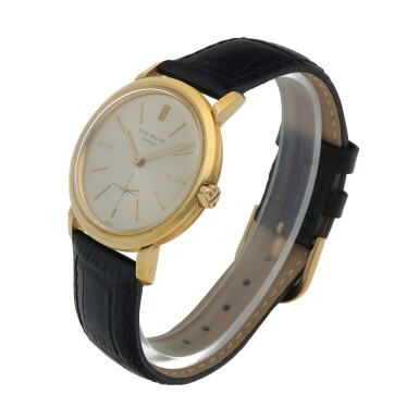View 2. Thumbnail of Lot 86. Ref. 3440 Yellow gold wristwatch Made in 1961   百達翡麗 3440型號黃金腕錶,1961年製.