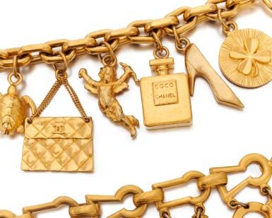 View 2. Thumbnail of Lot 60. Two charm bracelets.