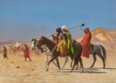 JEAN-LÉON GÉRÔME | RIDERS CROSSING THE DESERT