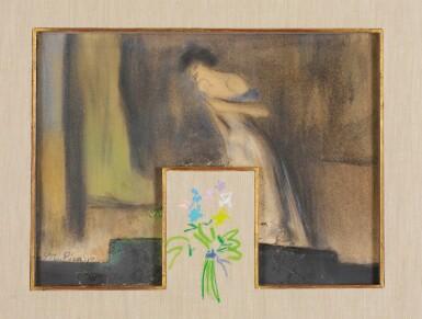 View 1. Thumbnail of Lot 27. PABLO PICASSO | TWO DRAWINGS: (I) YVETTE GUILBERT; (II) BOUQUET DE FLEURS.