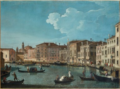 View 4. Thumbnail of Lot 203. Venice, a view of the Grand Canal with the Chiesa di Santa Maria della Salute; Venice, a view of the Santa Chiara Canal, looking south-east along the Fondamenta della Croce.