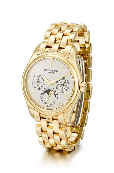 View 2. Thumbnail of Lot 138. PATEK PHILIPPE     REFERENCE 5136,  A YELLOW GOLD PERPETUAL CALENDAR WRISTWATCH WITH MOON PHASES, 24 HOURS AND LEAP YEAR INDICATION, CIRCA 2008.