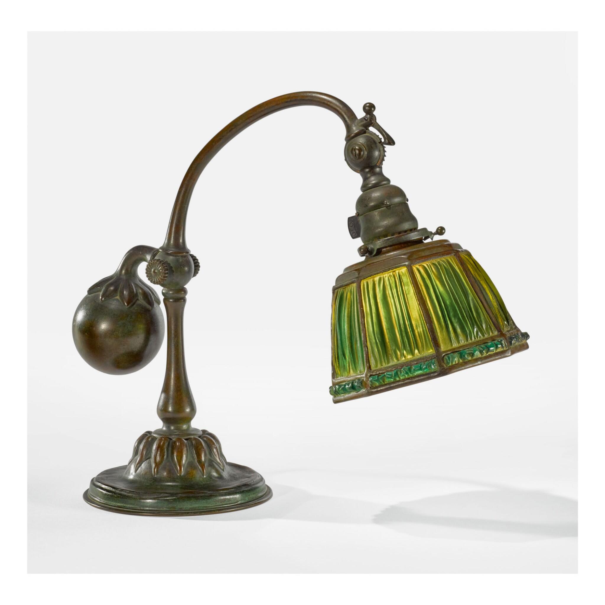 "TIFFANY STUDIOS | ""FAVRILE FABRIQUE"" COUNTER-BALANCE DESK LAMP"