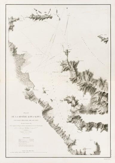 View 4. Thumbnail of Lot 215. LAPLACE. Voyage autour du monde de l'Inde et de Chine. 1833-1840. 7 volumes, dont 2 atlas et Zoologie..