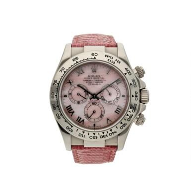 View 6. Thumbnail of Lot 7. Reference 116519 'Daytona Beach'  A white gold automatic chronograph wristwatch, Circa 2000 .