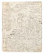 2 lettres autographes signées à Max Jacob, l'une illustrée. 1921-1922.
