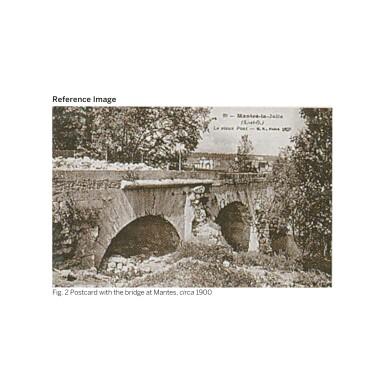View 3. Thumbnail of Lot 55. JEAN-BAPTISTE-CAMILLE COROT | MANTES- DEUX ARCHES DU PONT AVEC UN CAVALIER.