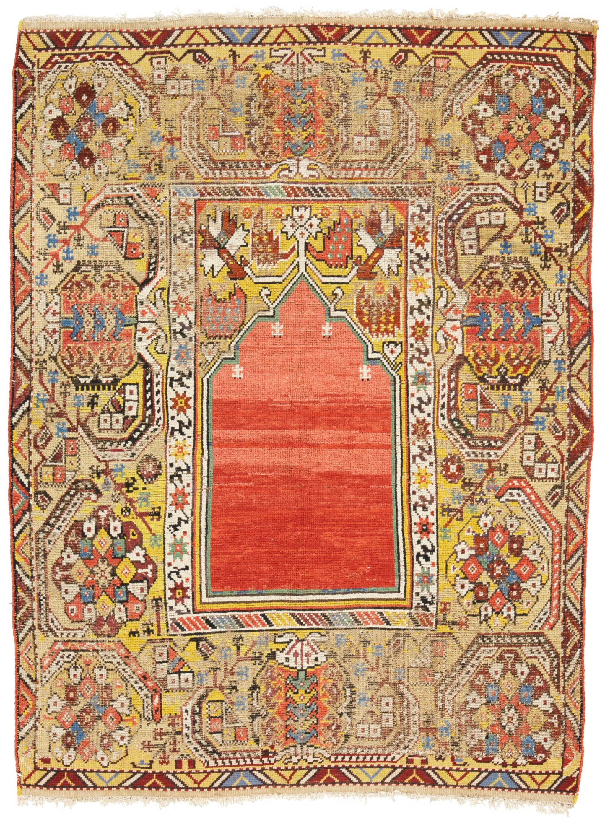 View full screen - View 1 of Lot 17. A 'TRANSYLVANIAN' RUG, OUSHAK REGION, WEST ANATOLIA.