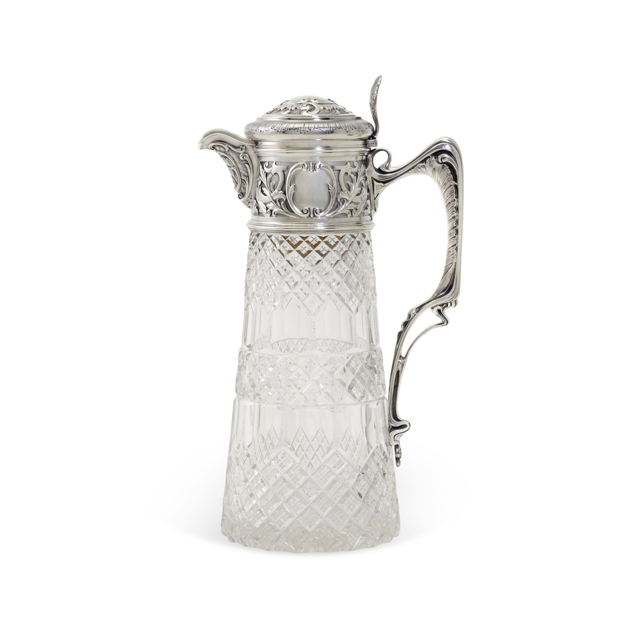 View full screen - View 1 of Lot 107. A silver-mounted cut-glass decanter, St Petersburg, 1899-1908.