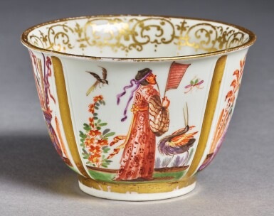 View 2. Thumbnail of Lot 333. A MEISSEN CHINOISERIE TEABOWL AND SAUCER CIRCA 1723.