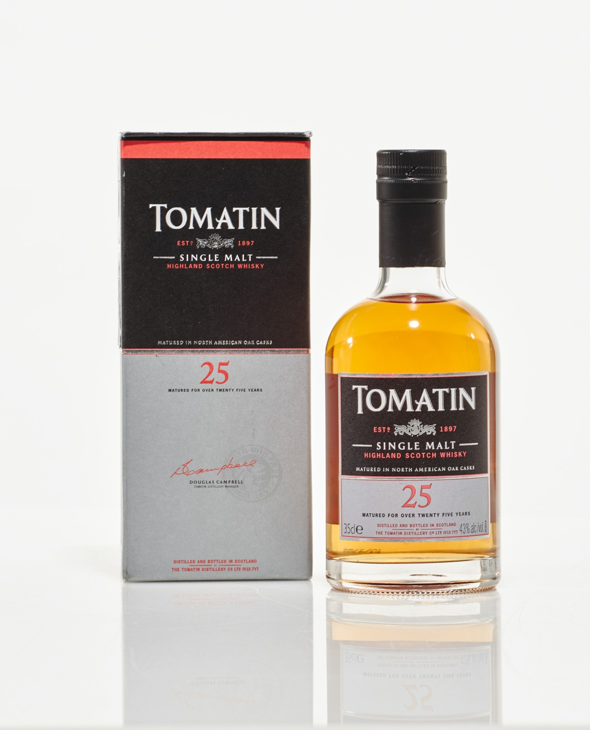 View full screen - View 1 of Lot 25. Tomatin 1988 25 Year Old 43.0 abv NV (1 HB35cl).