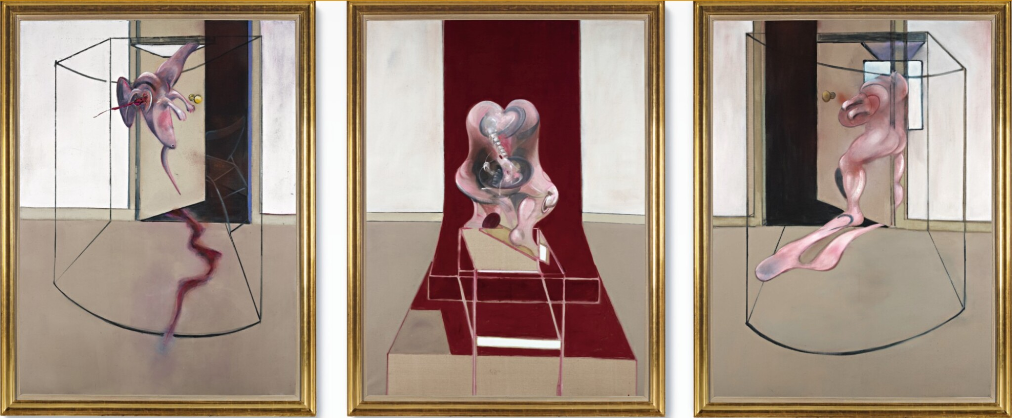 View full screen - View 1 of Lot 105. FRANCIS BACON | TRIPTYCH INSPIRED BY THE ORESTEIA OF AESCHYLUS.