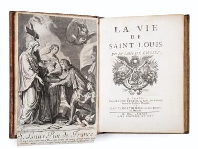View 2. Thumbnail of Lot 9. La Vie de Saint-Louis. Paris, 1689. Exemplaire de présent aux armes du Régent. Edition originale..