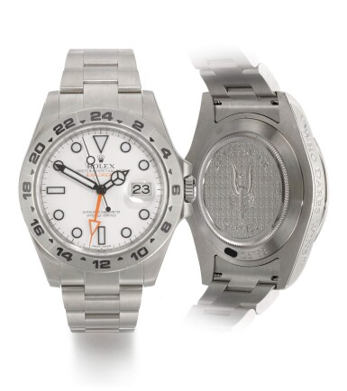 View 1. Thumbnail of Lot 10. ROLEX |  EXPLORER II, 22 SPECIAL AIR SERVICE, REFERENCE 216570,  MILITARY STAINLESS STEEL DUAL-TIME WRISTWATCH WITH DATE AND BRACELET,  CIRCA 2012.