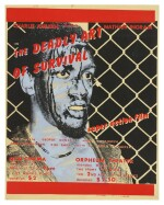"[CHARLIE AHEARN] ""The Deadly Art of Survival"", 1979. Original handpainted silkscreen movie poster."