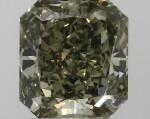 A 1.16 Carat Cut-Cornered Rectangular Modified Brilliant-Cut Fancy Deep Grayish Yellowish Green Diamond, VVS2 Clarity