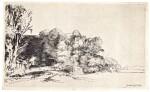 REMBRANDT HARMENSZ. VAN RIJN | CLUMP OF TREES WITH A VISTA (B., HOLL. 222; NEW HOLL. 272; H. 263)