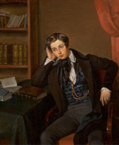 View 1. Thumbnail of Lot 12. ATTRIBUTED TO JEAN-AUGUSTE BARD   Portrait of Vladimir Nikolaevich Karamzin.