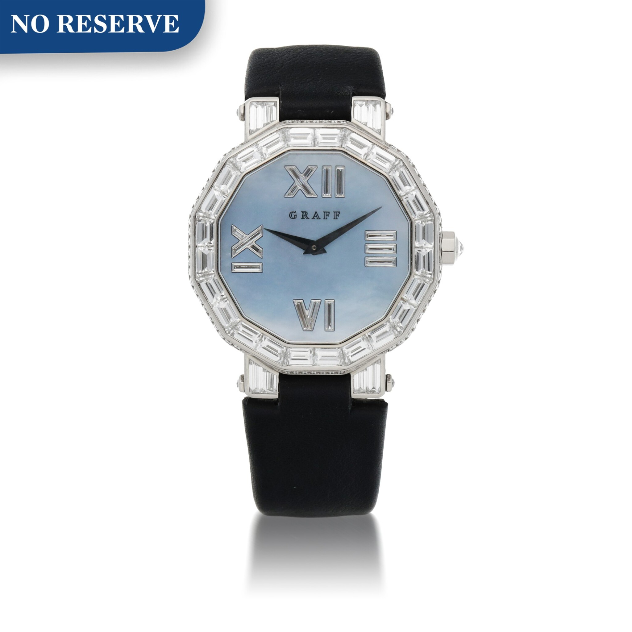 View full screen - View 1 of Lot 419. REF GXXVI WHITE GOLD AND DIAMOND-SET WRISTWATCH WITH MOTHER-OF-PEARL DIAL CIRCA 2010.