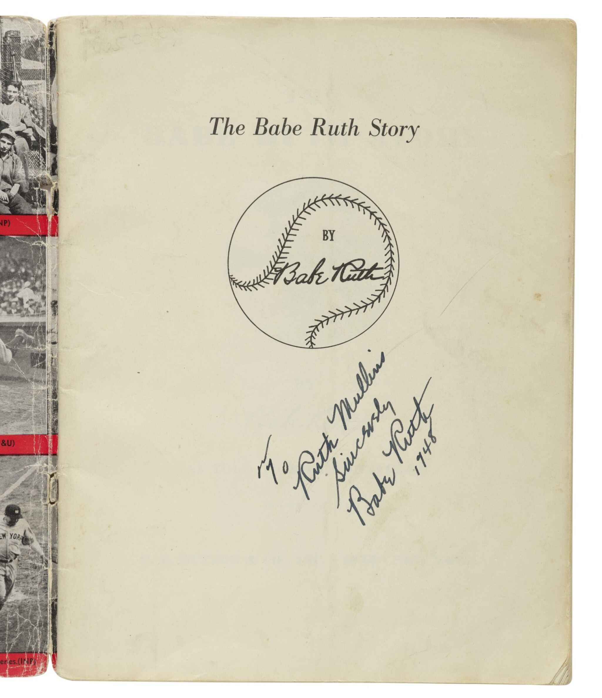 """View full screen - View 1 of Lot 159. RUTH, GEORGE HERMAN (""""BABE"""") 