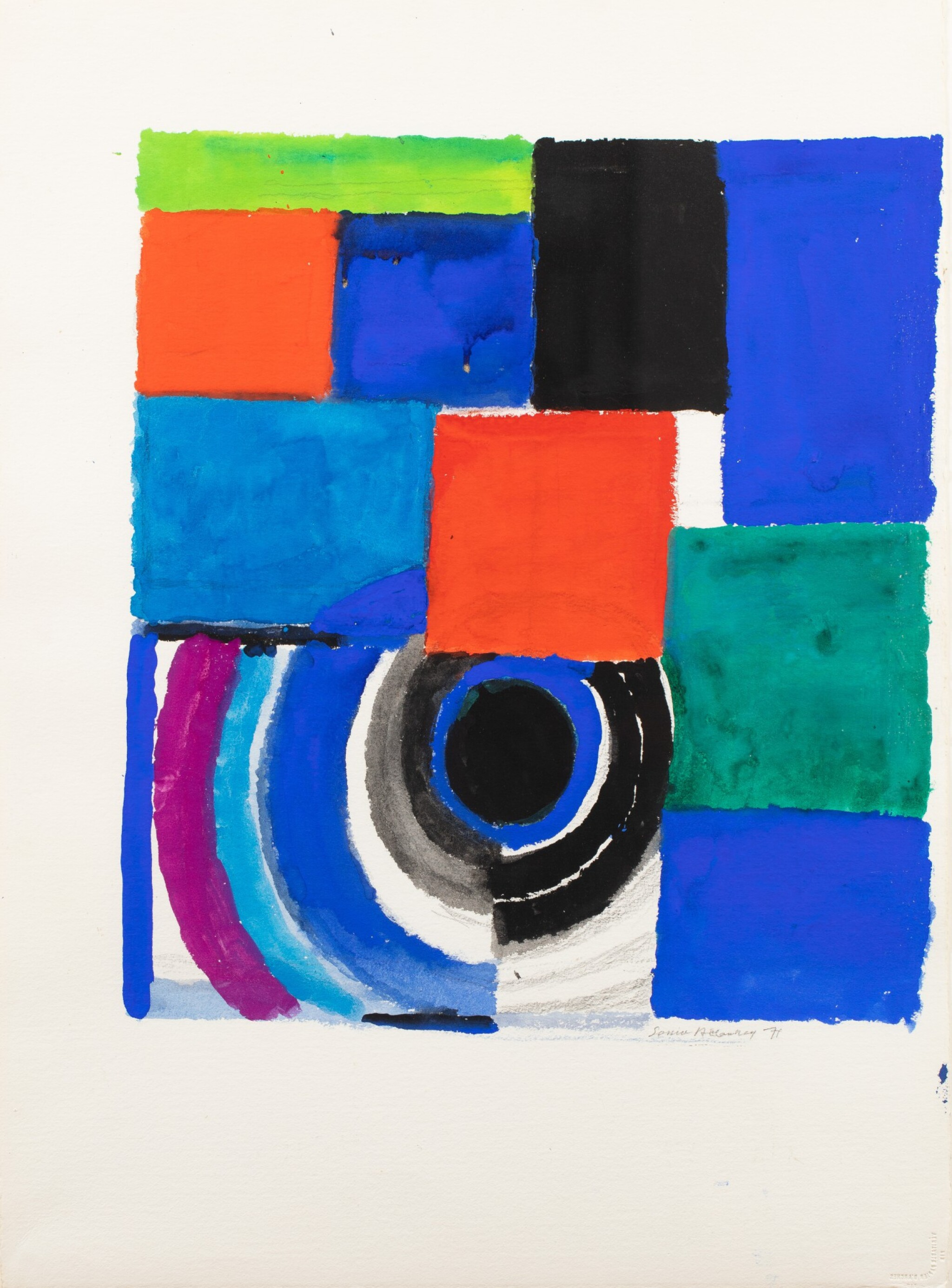 View full screen - View 1 of Lot 11. SONIA DELAUNAY | RYTHME COULEUR.