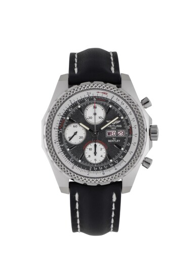 View 1. Thumbnail of Lot 86. BREITLING | BENTLEY GT, REF J13362 LIMITED EDITION WHITE GOLD CHRONOGRAPH WRISTWATCH WITH DAY AND DATE CIRCA 2004.