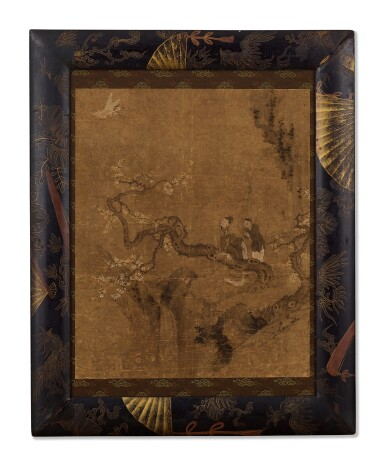 View 1. Thumbnail of Lot 2033. Scholar Watching the Crane   佚名(清初)   梅妻鶴子士隱居.