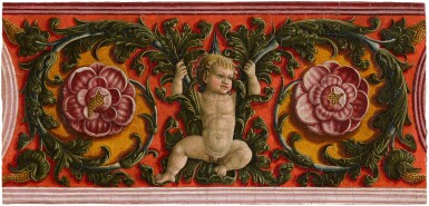 View 3. Thumbnail of Lot 33. LIBERALE DA VERONA  |  PUTTO WITH GARLANDS.