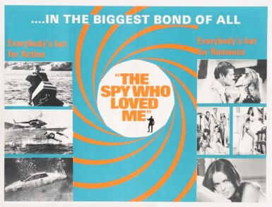 View 1. Thumbnail of Lot 117. THE SPY WHO LOVED ME (1977) SET OF FIVE POSTERS, BRITISH, MARLER HALEY.