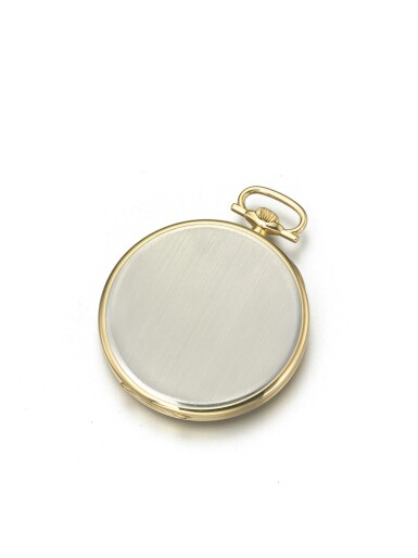 View 3. Thumbnail of Lot 58. LONGINES | RETAILED BY TIFFANY & CO.: A PLATINUM AND YELLOW GOLD OPEN FACED WATCH CIRCA 1925.