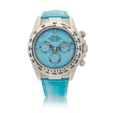 View 1. Thumbnail of Lot 211. Reference 116519 'Daytona Beach'  A white gold automatic chronograph wristwatch, Circa 2000.