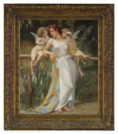 View 2. Thumbnail of Lot 10. GUILLAUME SEIGNAC | PSYCHE WITH PUTTI.