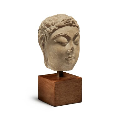 View 3. Thumbnail of Lot 109. A marble head of bodhisattva, Tang Dynasty | 唐 大理石菩薩首像.
