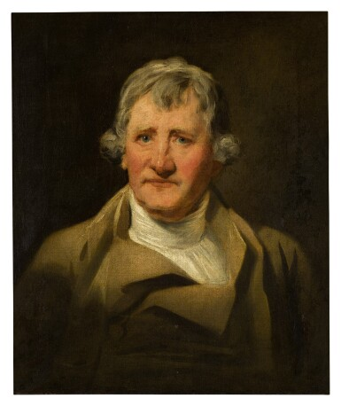 View 1. Thumbnail of Lot 7. Portrait of David Haliburton of Bushey Grove (1774 - c. 1833), cousin of Walter Scott, bust-length, in a brown coat.