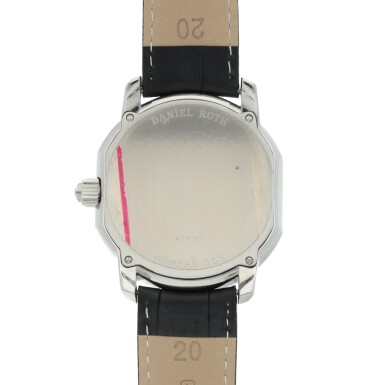 View 4. Thumbnail of Lot 667. DANIEL ROTH  | METROPOLITAN 24 CITIES, REF 857.ST   STAINLESS STEEL WORLD-TIME WRISTWATCH WITH 24-HOUR INDICATION   CIRCA 2005.