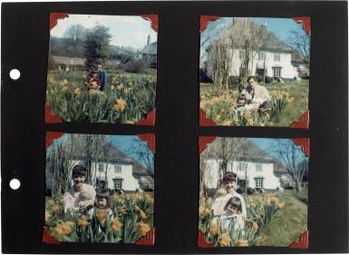 "View 7. Thumbnail of Lot 49. Sylvia Plath | Family photograph album (""The Hughes family Album""), 1957-1962."