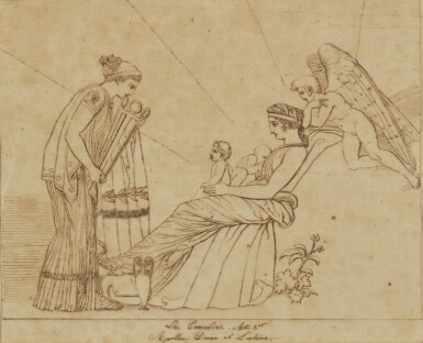 View 1. Thumbnail of Lot 38. JOHN FLAXMAN | THREE SCENES FROM LES EUMENIDES: ACTS I, 2 AND 4.