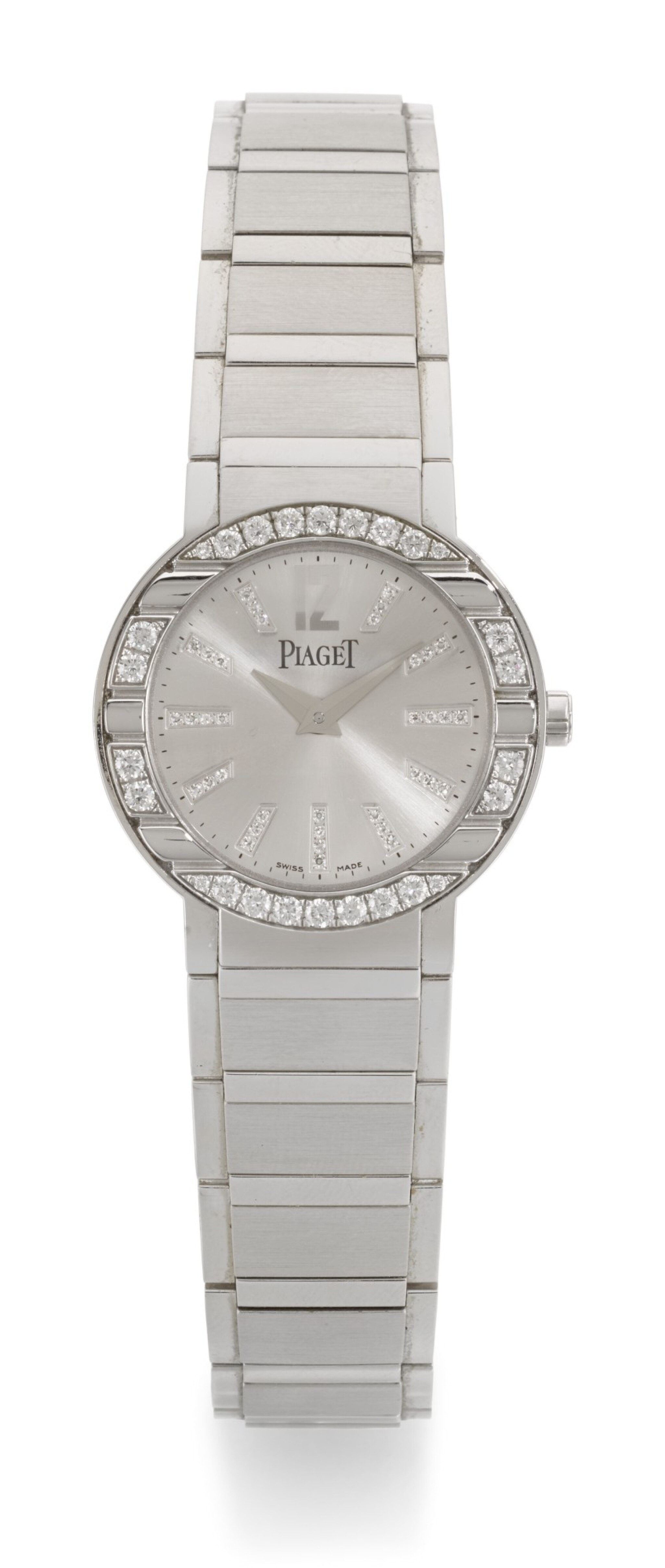 PIAGET | POLO, REFERENCE P10140, WHITE GOLD DIAMOND-SET BRACELET WATCH, CIRCA 2006