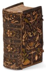 Bible, Dutch, Het Nieuwe Testament, Amsterdam, 1615, contemporary embroidered binding