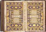 AN ILLUMINATED QUR'AN, COPIED BY MUHAMMAD AMIN AL-KASHMIRI B. MIR SHAH MUHAMMAD B. MIR AHMAD KHATIB, NORTH INDIA OR PERSIA, MUGHAL OR SAFAVID, DATED 1053 AH/1643 AD