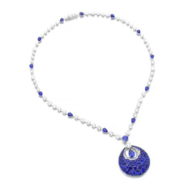 GRAFF | SAPPHIRE AND DIAMOND PENDENT NECKLACE