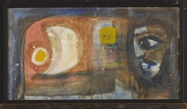 View 3. Thumbnail of Lot 1821. BADRI NARAYAN | UNTITLED (MAN AND MOON).