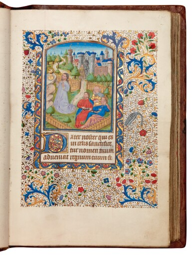 View 3. Thumbnail of Lot 7. Book of hours, Use of Rome, in Latin and Picard French, illuminated manuscript on vellum, mid-15th century.