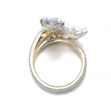 View 3. Thumbnail of Lot 340. IMPORTANT FANCY INTENSE BLUE DIAMOND RING, 'DUET', SOTHEBY'S DIAMONDS.