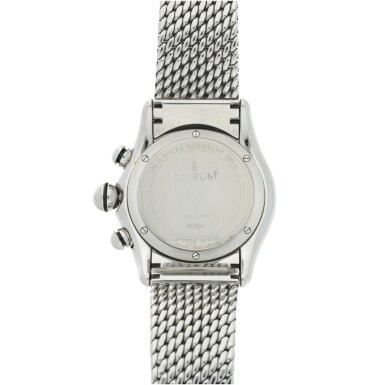 View 5. Thumbnail of Lot 222. REFERENCE 396.150.20 BUBBLE A STAINLESS STEEL CHRONOGRAPH WRISTWATCH, CIRCA 2000.