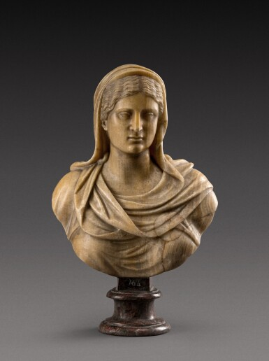 View 1. Thumbnail of Lot 158. Italian, 18th century | Bust of a Vestal Virgin.