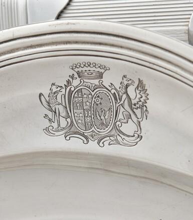 View 3. Thumbnail of Lot 173. TWO SILVER CIRCULAR DISHES, PARIS, ONE GUILLAUME PIGERON, 1766-1767, THE OTHER EDME-PIERRE BALZAC, 1750-1751 |  DEUX PLATS RONDS EN ARGENT, PARIS, L'UN PAR GUILLAUME PIGERON, 1766-1767, L'AUTRE PAR EDME-PIERRE BALZAC, 1750-1751.
