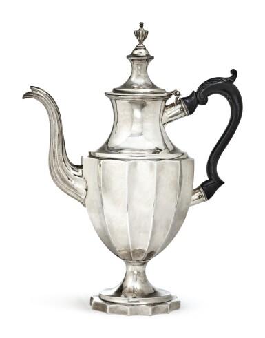 View 1. Thumbnail of Lot 408. An American Silver Coffee Pot, Joseph Richardson Jr., Philadelphia, circa 1800.
