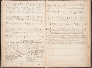 View 3. Thumbnail of Lot 123. Viola da gamba. Important 17th-century manuscript of divisions for solo bass viol by Norcombe, Simpson and others.